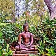 Hawaiian Garden Buddha  Poster