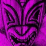 Hawaiian Purple Mask Poster