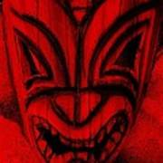 Hawaiian Red Mask Poster