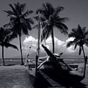 Hawaiian Sailing Canoe Maui Hawaii Poster