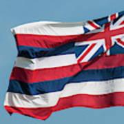 Hawaiian State Flag, Oahu, Hawaii Poster
