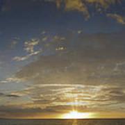 Hawaiian Sunset Panorama Poster