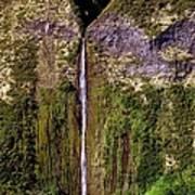 Hawaiian Waterfall Poster