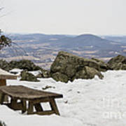 Hawk Mountain Bench Poster
