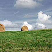 Hay Bales Poster by Steven  Michael