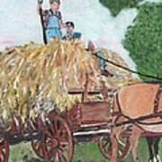 Haying Circa 1920 Poster