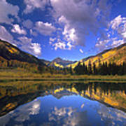 Haystack Mountain Reflected In Beaver Pond Poster