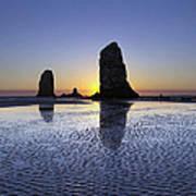 Haystack Needles Rocks At Cannon Beach Poster