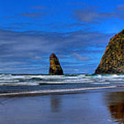Haystack Rock And The Needles IIi Poster by David Patterson