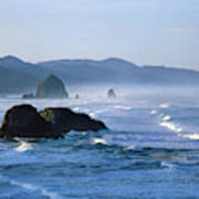 Haystack Rocks In Cannon Beach Poster