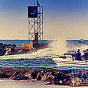 Hdr Boat Boats Fishing Ocean Beach Scenic Landscape Photos Pictures Photography Bay Buy Sell Photo  Poster