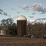 Hdr Image The Farmers Silo Poster
