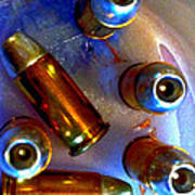 Bullet Art - Hdr Photography Of .32 Caliber Hollow Point Bullets Art 4 Poster