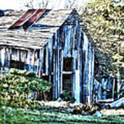 Hdr Tin Patch Roof Barn Poster