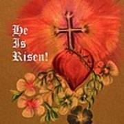 He Is Risen Greeting Card Poster