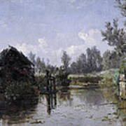 The Lake In Friesland Poster