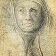 Head Of A Woman Poster by Michelangelo Buonarroti