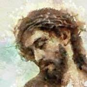 The Head Of Christ Poster