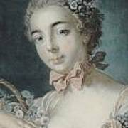 Head Of Flora Poster by Francois Boucher