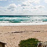 Heading To The Beach Manalapan Florida Poster
