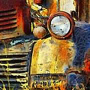 Headlight On A Retired Relic Abstract Poster
