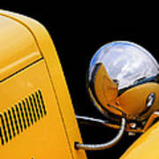 Headlight Reflections In A 32 Ford Deuce Coupe Poster