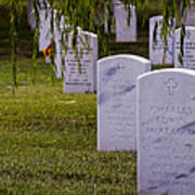 Headstones Of Arlington Cemetery Poster