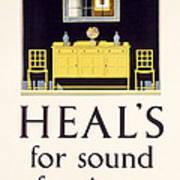 Heals Sound Furniture Advertisement Poster