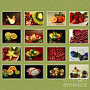 Healthy International Fruits Collection Poster