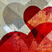 Hearts 8 Square Poster
