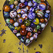 Heart Box Full Of Marbles Poster