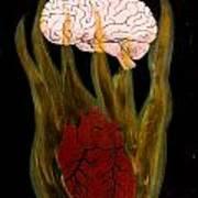 Heart Cooks Brain Poster