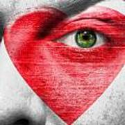 Heart Face Poster