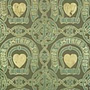 Heart Motif Ecclesiastical Wallpaper Poster