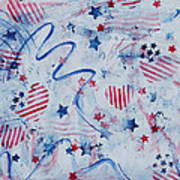 Heart Of America Poster by Julie Acquaviva Hayes