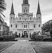 Heart Of The French Quarter Monochrome Poster