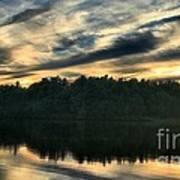 Heart Pond Sunset Poster