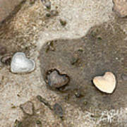 Heart Rock Love Poster by Artist and Photographer Laura Wrede
