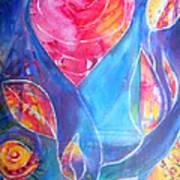 Heart Rose Poster
