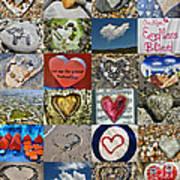 Heart Shape Collage  Poster