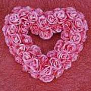 Heart-shaped Floral Arrangement Poster