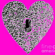 Heart Shaped Lock - Pink Poster
