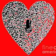 Heart Shaped Lock - Red Poster