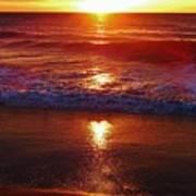 Heart Shaped Sunbeam 2 3/9 Poster