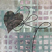 Heart String Abstract- Art  Poster