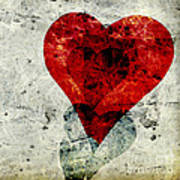 Hearts 3 Square Poster