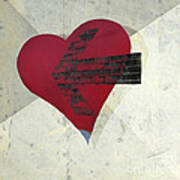Hearts 7 Square Poster