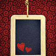Hearts In Slate Poster