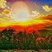 Heavenly Light. North Carolina Blue Ridge Poster