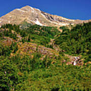 Heavens Peak Glacier International Peace Park Poster